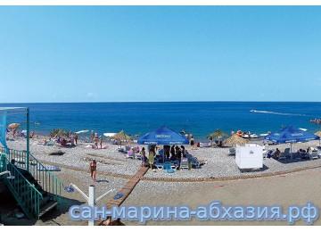 Пляж | Пансионат Сан-Марина | Абхазия Гагра