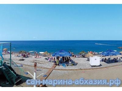 Пансионат Сан-Марина ,   пляж