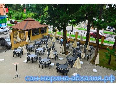 Пансионат Сан-Марина , территория, летнее кафе